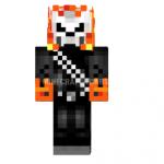 Скин Ghost Rider — Призрачный гонщик для Minecraft
