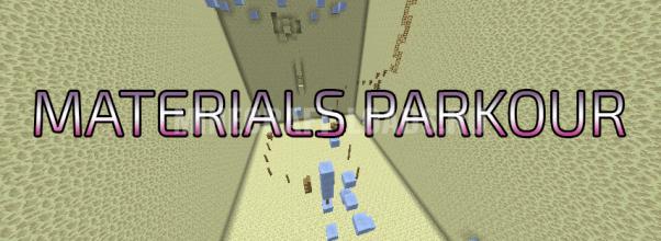 Карта MATERIALS PARKOUR для Minecraft 1.12.2