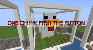 Карта One chunk Find the button для Minecraft 1.13