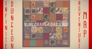 Карта Infinite Dungeon для Minecraft 1.12