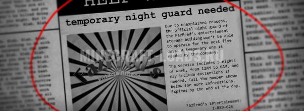 Карта Five Nights In The Dark для Minecraft 1.13.2