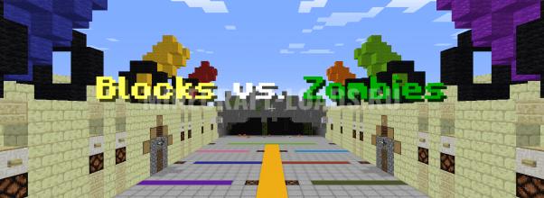 Карта block vs zombie для Minecraft 1.13.2