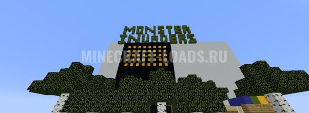 Карта Monster Invaders для Minecraft 1.12.2