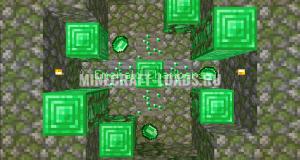 Карта Emerald Chambers для Minecraft 1.14