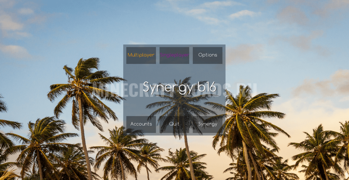 Главное меню чита Synergy