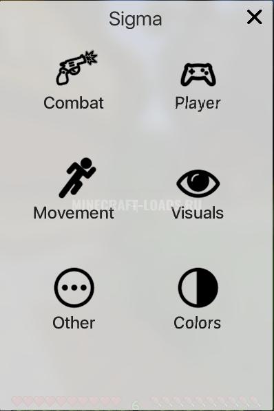 GUI меню чита Sigma