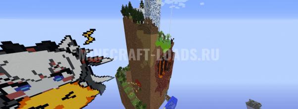 Карта с вращающимся паркруом для Minecraft 1.12.2