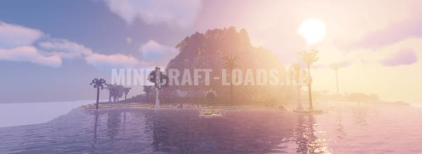 Карта с островом для выживания для Minecraft 1.14.4