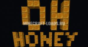 Карта Медовый Паркур для Minecraft 1.15