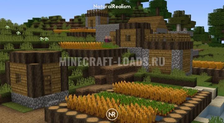 Ресурс пак NaturalRealism для Minecraft 1.16