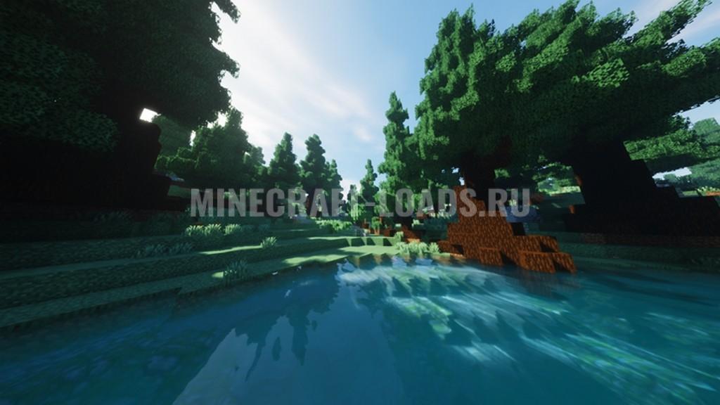 Ресурс пак Round Trees для Minecraft 1.16