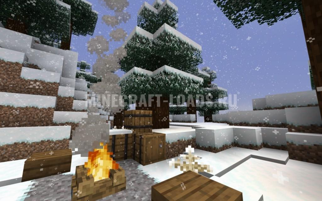 Ресурс пак Default Style Winter для Minecraft 1.14