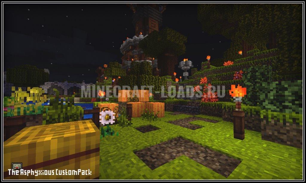 Ресурс пак Asphyxious для Minecraft 1.16